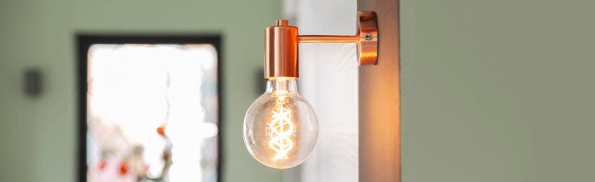 Koperen wandlampen