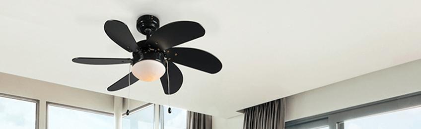 Zwarte plafondventilatoren