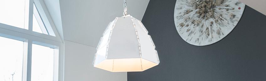 Witte lampenkappen