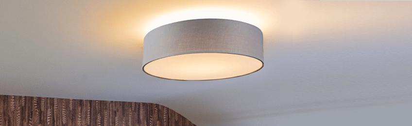 Grijze plafondlampen