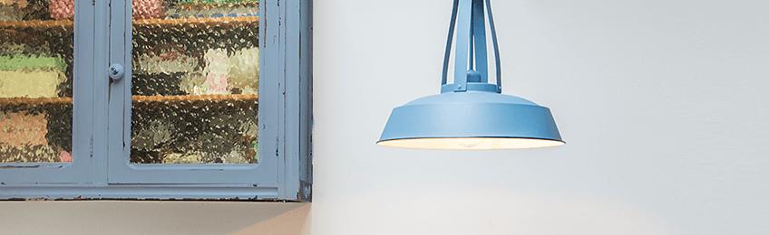 Blauwe hanglampen