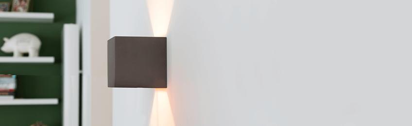 Wandlampen van  beton