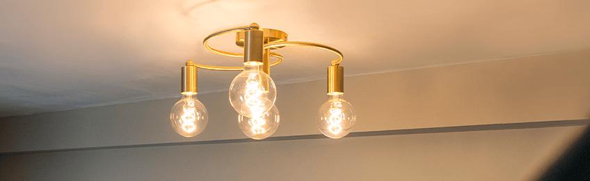 Goud / messing plafondlampen