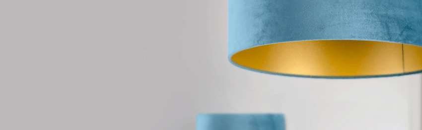 Blauwe lampenkappen