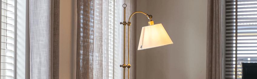 Bronzen vloerlampen