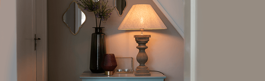 Houten tafellampen