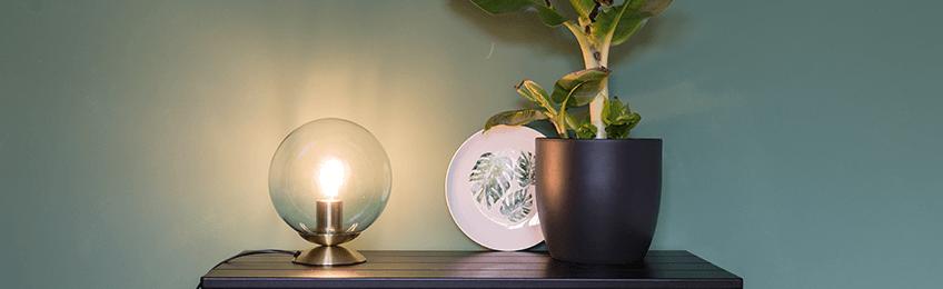 Glazen tafellampen