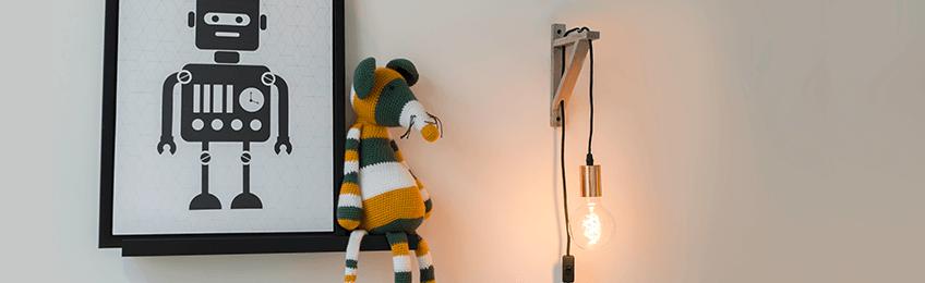 Houten wandlampen