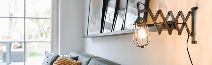 Stoere industriele wandlampen