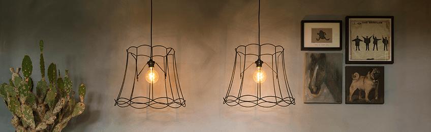 Metalen lampenkappen