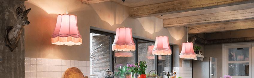 Roze lampenkappen