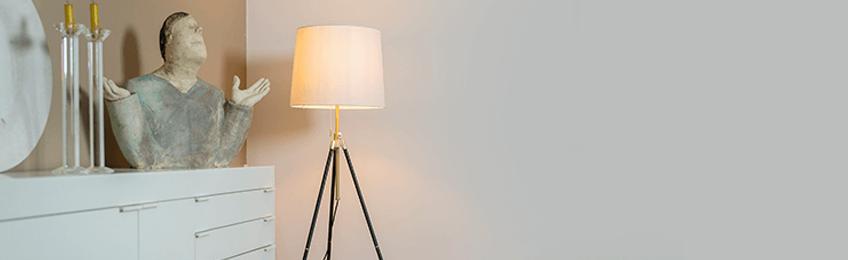 Witte vloerlampen