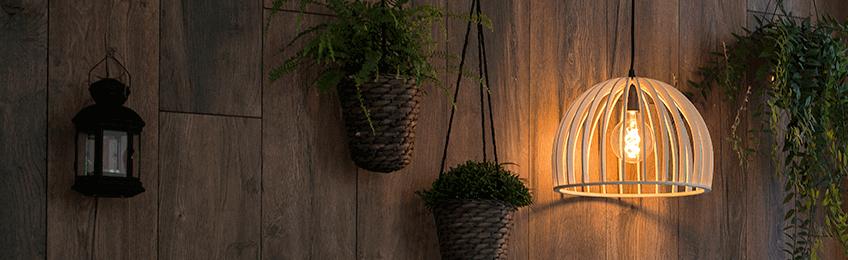 Houten hanglampen