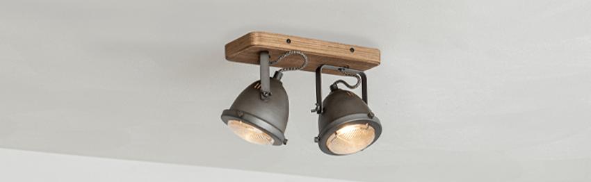 Houten plafondlampen