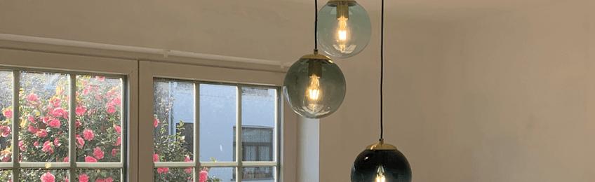 Grijze hanglampen