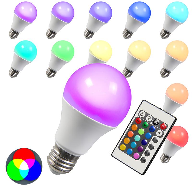 LED lamp RGB E27 3W - Lampenlicht.nl