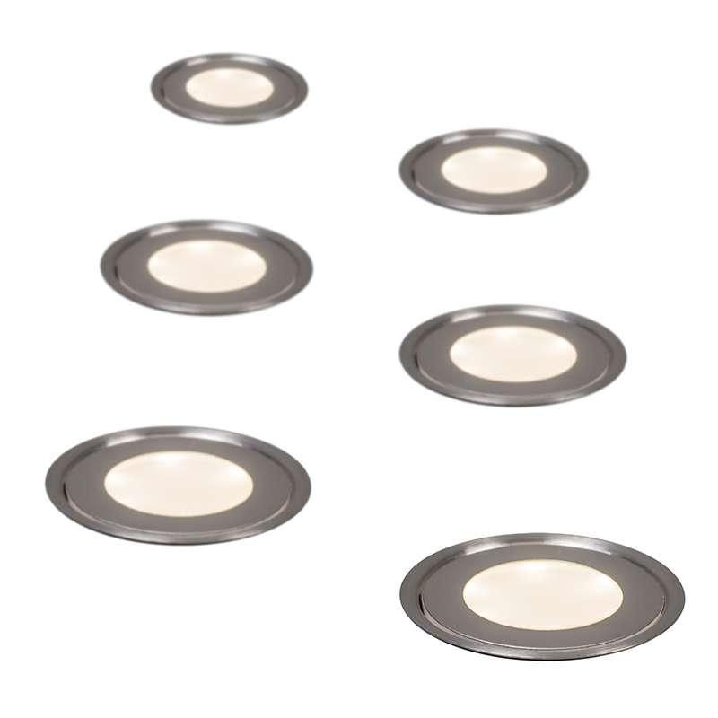 inbouwset van 6 puck ip67 lampenlichtnl