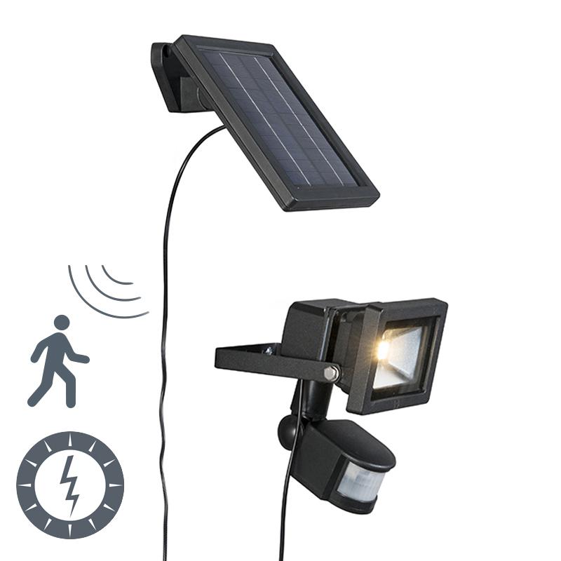 buitenlamp sunny straler led met pir sensor op zonne energie lampenlichtnl