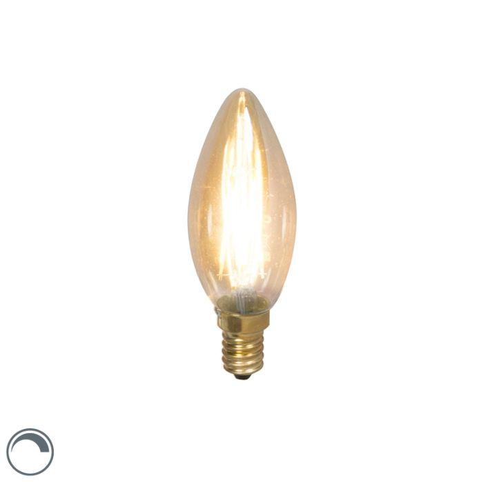LED-filament-kaarslamp-E14-240V-3,5W-200lm-dimbaar