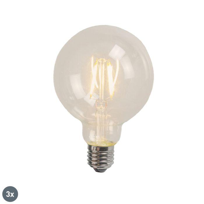 Set-van-3-E27-LED-filament-G95-4W-320-lm-2700K