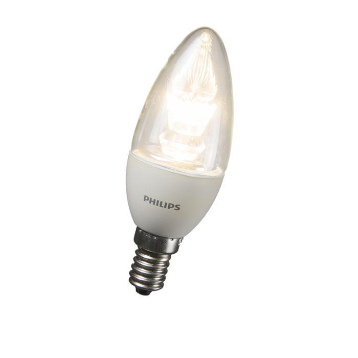 Philips-LED-kaarslamp-E14-4W=25W-2700K-dimbaar
