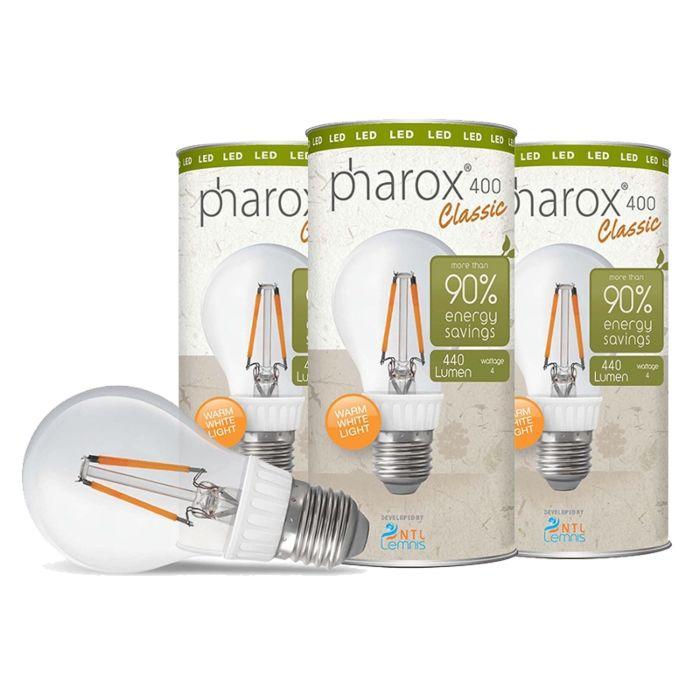 Set-van-3-Pharox-LED-lampen-400-Classic-E27-4W