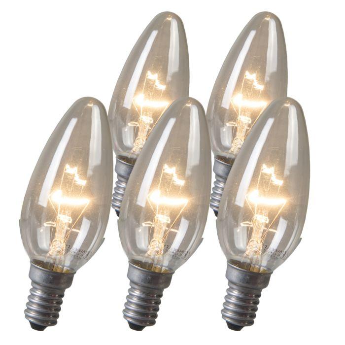 Kaarslamp-E14-40W-helder-set-van-5