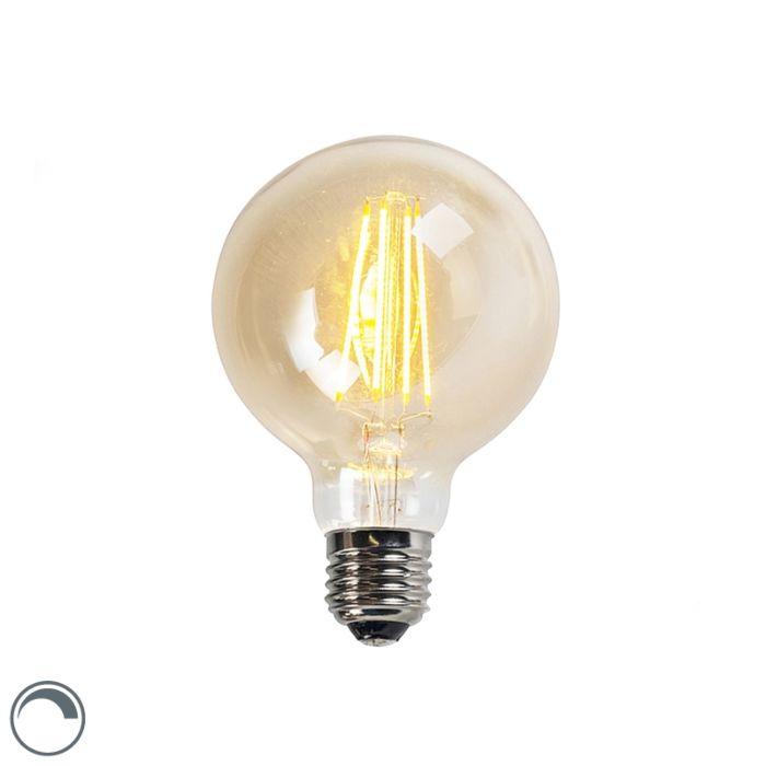 Filament-LED-lamp-G95-5W-450-lm-2200K-goud-dimbaar