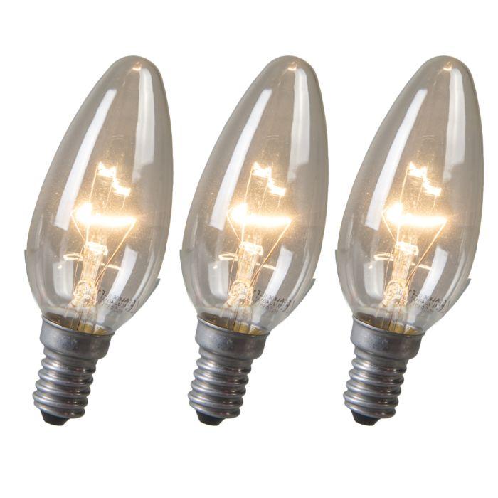 Kaarslamp-E14-40W-helder-set-van-3