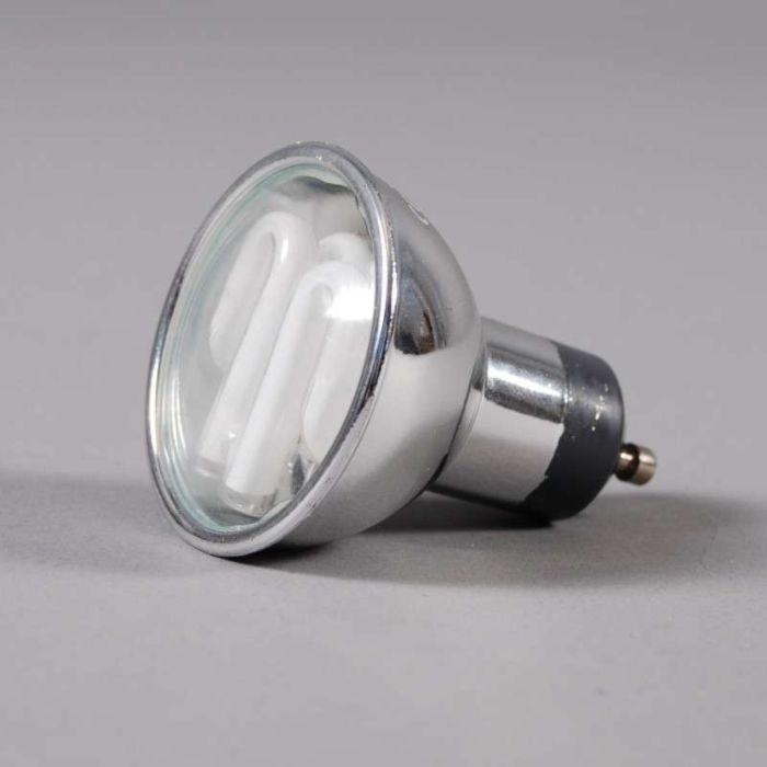 GU10-spaarlamp-zilver-7W=-35W-licht