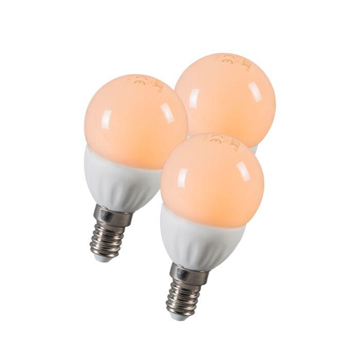 LED-kogel-E14-3W-250-lumen-ca.-25W-set-van-3