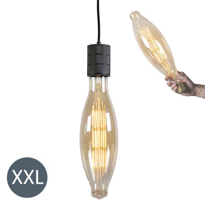 Hanglamp-Elips-zwart-met-dimbare-LED-lamp