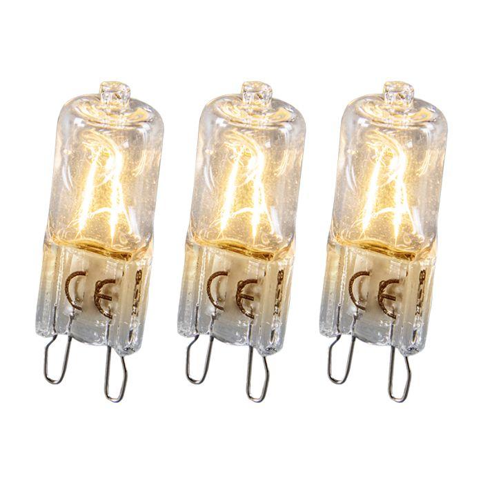 Halogeenlamp-G9-28W-Set-van-3