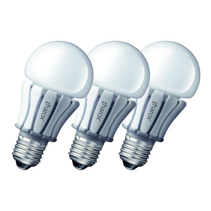 Set-van-3-Pharox-LED-lamp-400-E27-8W-230V