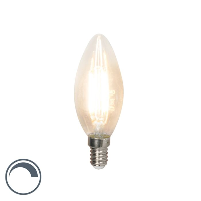 LED-filament-kaarslamp-E14-240V-3,5W-350lm-B35-dimbaar