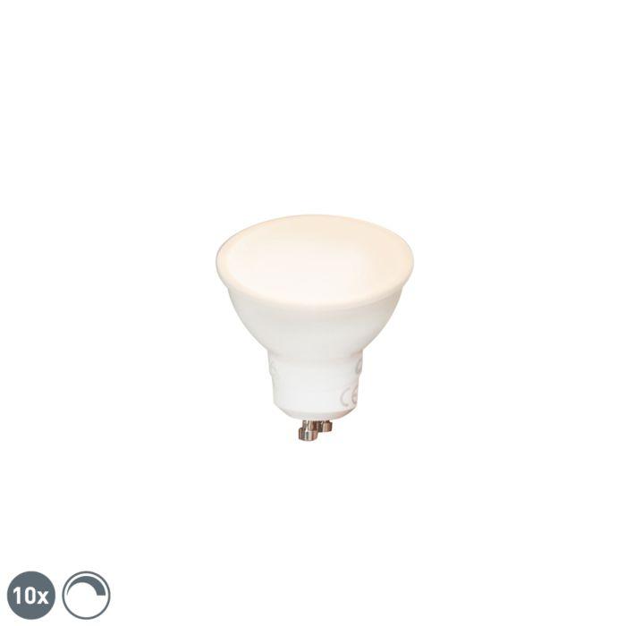 Set-van-10-GU10-dimbare-LED-lampen-6W-450-lm-2700K