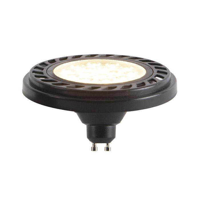 GU10-dimbare-LED-AR111-zwart-9W-800-lm-2700K