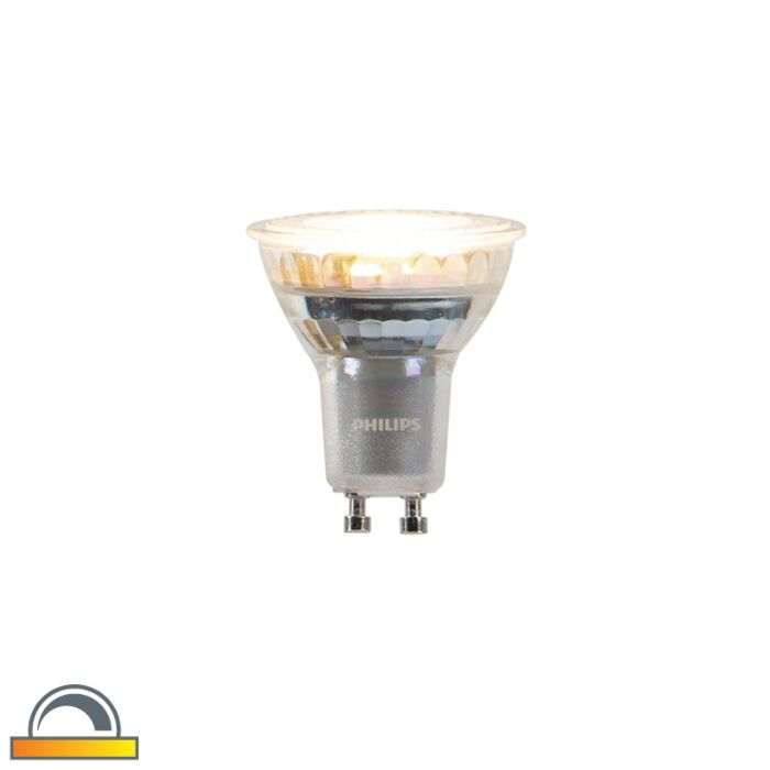 GU10-dim-to-warm-Philips-LED-lamp-3,7W-260-lm-2200K---2700K