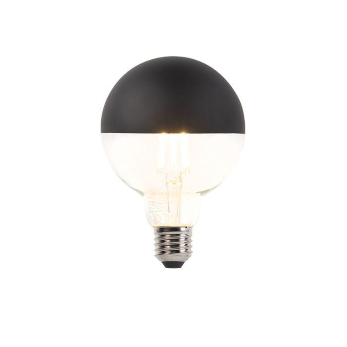 E27-dimbare-LED-filamentlamp-kopspiegel-G95-zwart-400lm-2700K