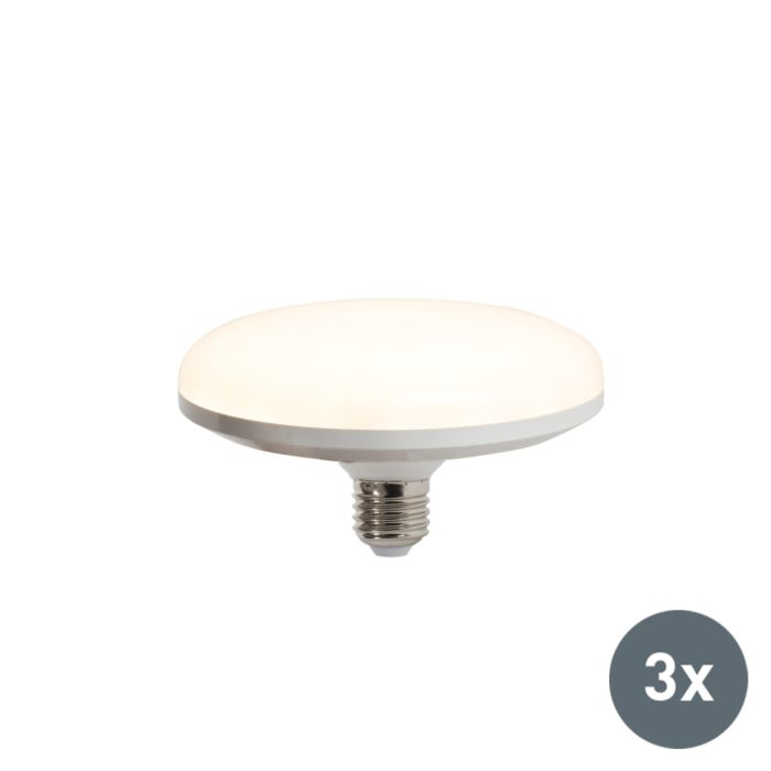 Set-van-3-LED-lamp-UFO-E27-18W-warmwit