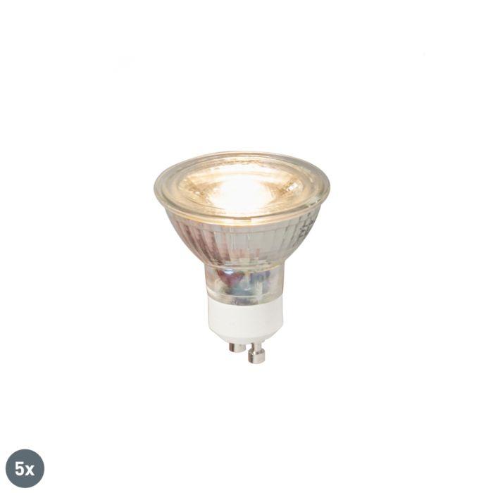 Set-van-5-GU10-LED-lamp-COB-5W-380LM-3000K