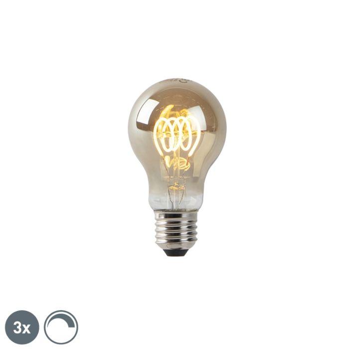 Set-van-3-E27-dimbare-LED-lampen-smoke-4W-160-lm-2200K