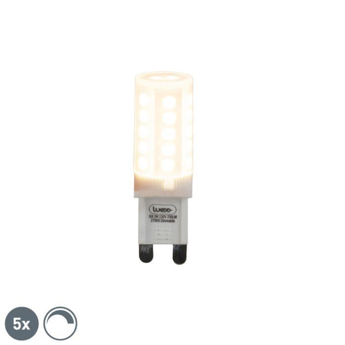 Set-van-5-G9-dimbare-LED-lampen-3W-280-lm-2700K