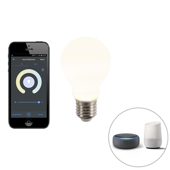 Smart-E27-dimbare-LED-lamp-met-app-A60-806-lm-2200-4000K