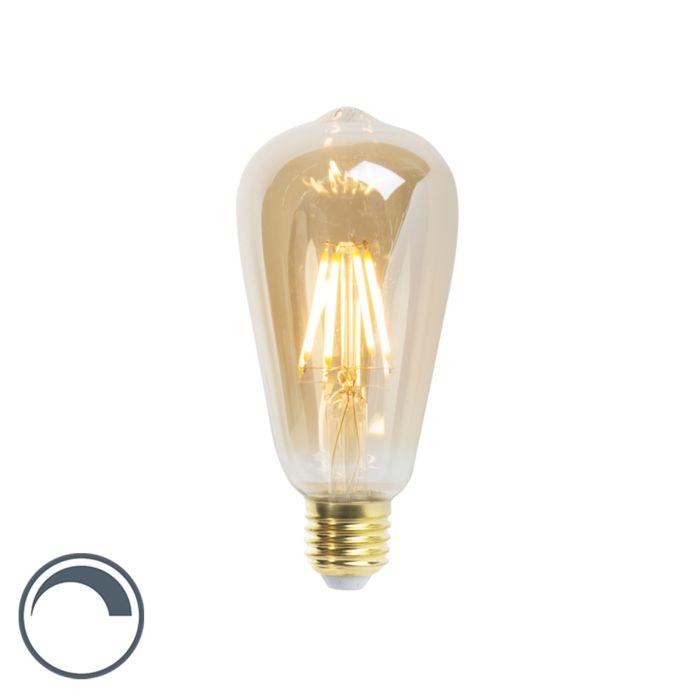 E27-dimbare-LED-filament-lamp-ST64-goldline-5W-360-lm-2200K