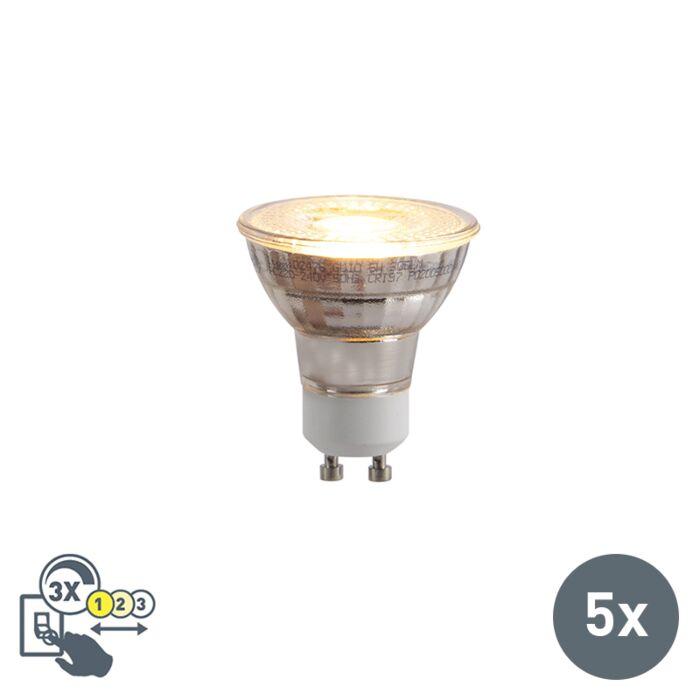 Set-van-5-GU10-LED-lampen-3-staps-dimbaar-in-Kelvin-5W