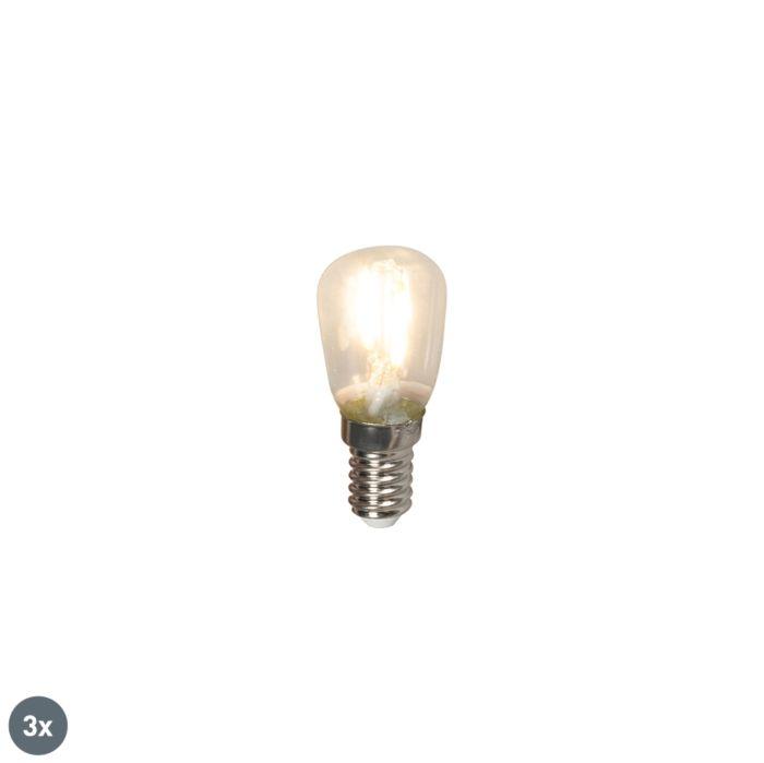 Set-van-3-E14-LED-filament-schakelbordlampen-T26-1W-100lm-2700-K