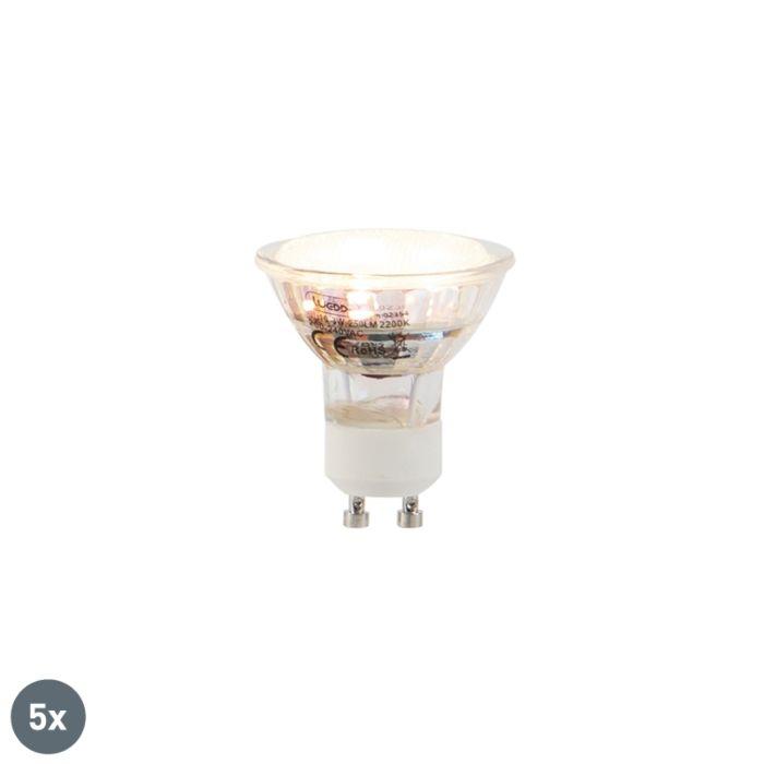 Set-van-5-GU10-LED-lampen-3W-250-lm-2200K
