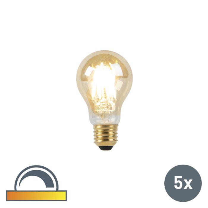 Set-van-5-E27-LED-lamp-8W-2000-2600K-dim-to-warm-goldline-filament