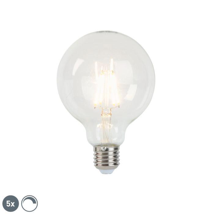 Set-van-5-E27-dimbare-LED-filament-lampen-G95-5W-470-lm-2700K